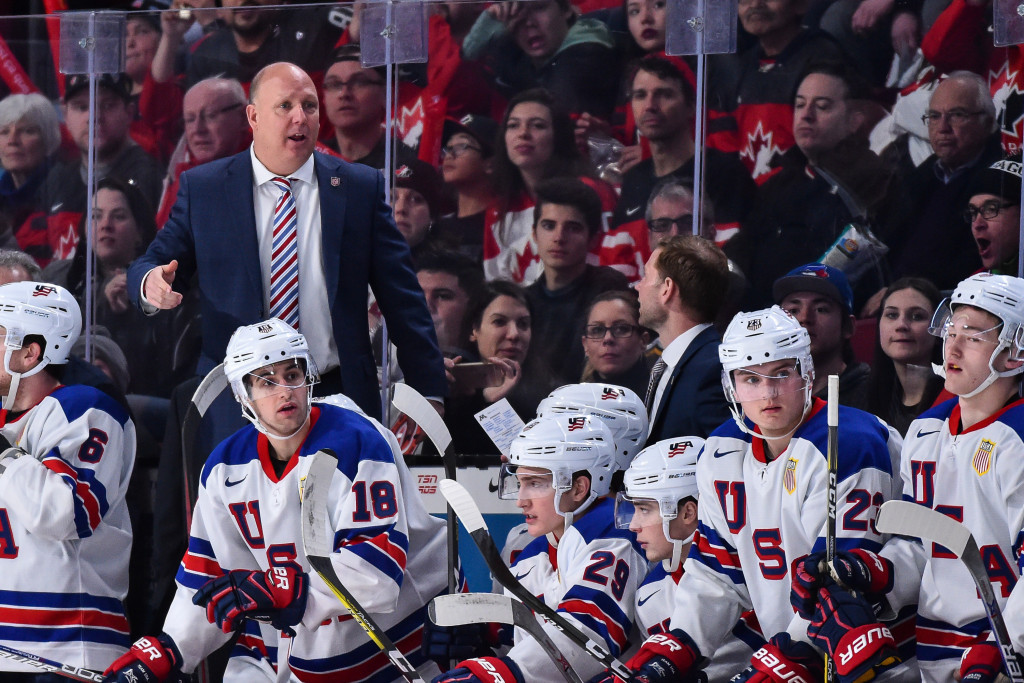 Bob Motzko guided the United States to their fourth IIHF World Junior Championships title in Canada in January ©Getty Images