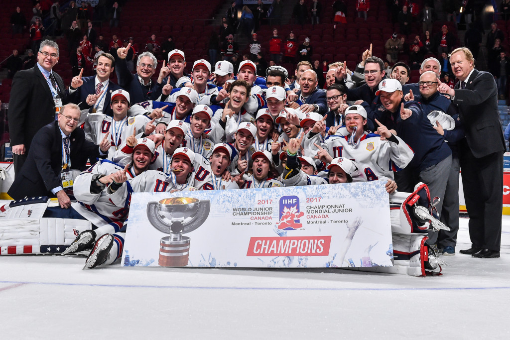 The United States triumphed at the 2017 IIHF World Junior Championships in Canada ©Getty Images
