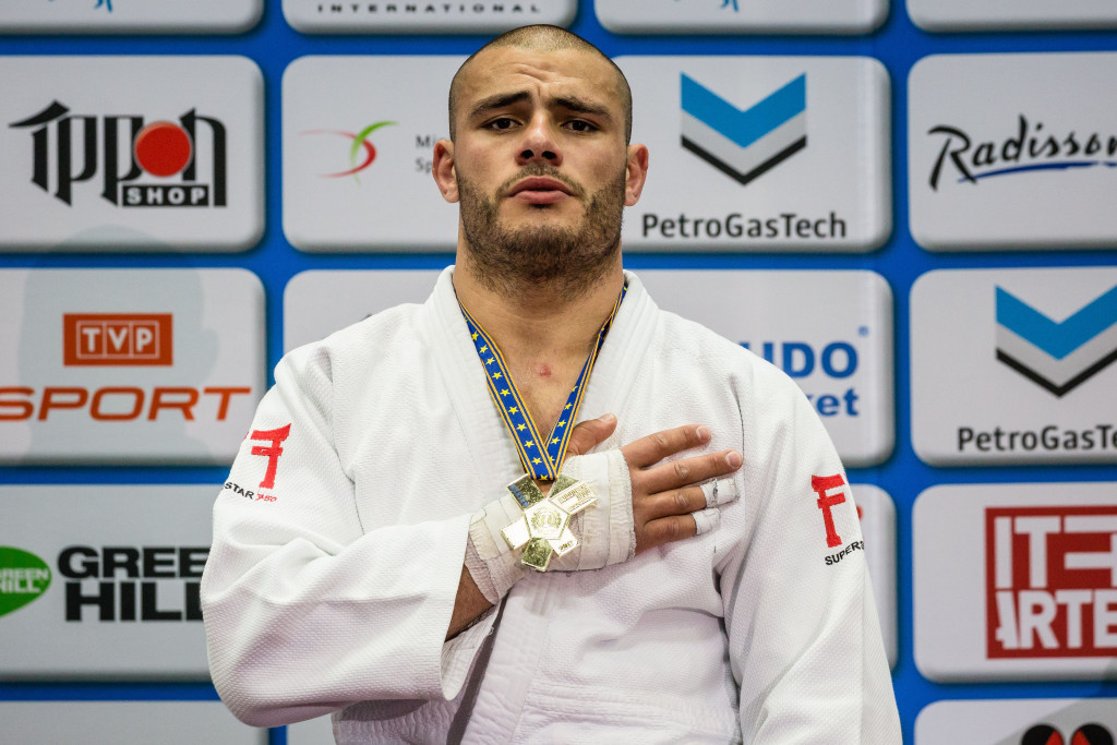 Guram Tushishvili scored the vital point as Georgia retained their men's team title on the final day of the European Judo Championships in Poland's capital Warsaw ©Getty Images