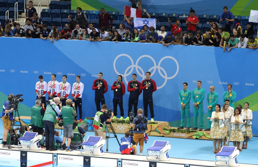 During Chuck Wielgus' tenure, the United States team earned 156 podium results across five Olympic Games ©Getty Images