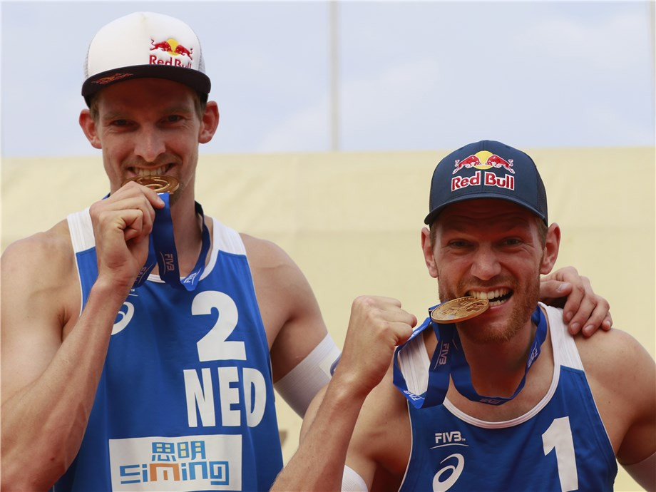 Dutch delight as Brouwer and Meeuwsen strike gold at FIVB Xiamen Open
