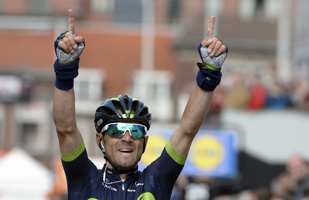 Valverde wins Liège–Bastogne–Liège after tributes for Scarponi