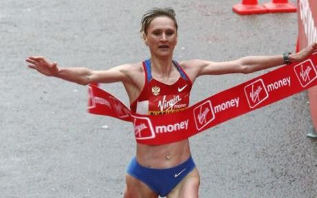 The London Marathon have employed lawyers in Russia to try to get Liliya Shobukhova to return the prize and appearance money she earned in 2010 and 2011 ©Getty Images