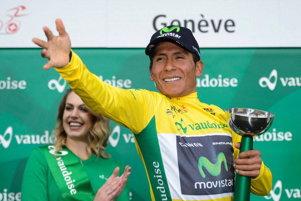 Snow, cold brings Romandie stage start down from mountains