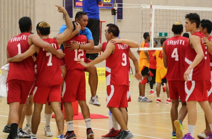 Tahiti topped Pool A with an unbeaten record in the men's volleyball competition after beating Guam 3-0 ©Port Moresby 2015