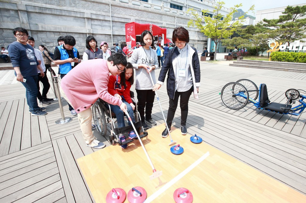 Para-sports exhibited at drawing contest as part of agreement with Pyeongchang 2018