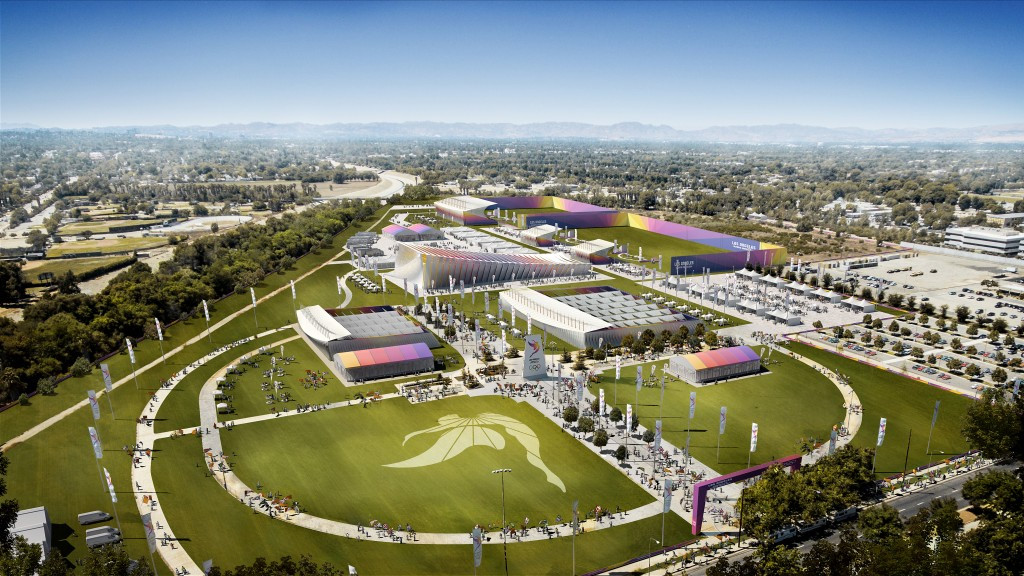 Los Angeles 2024 reveal images of proposed Valley Sports Park
