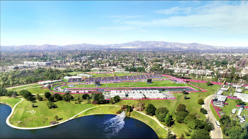 Canoe slalom is one sport proposed for the sports park ©Los Angeles 2024