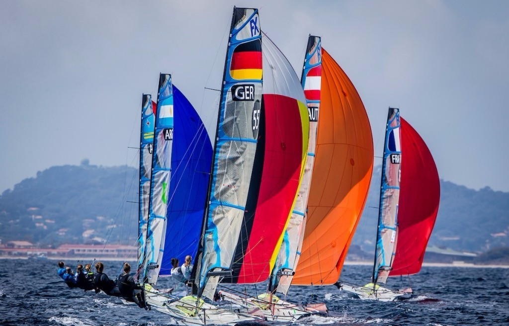 Olympic champions set the pace in women's 49erFX on opening day of Sailing World Cup