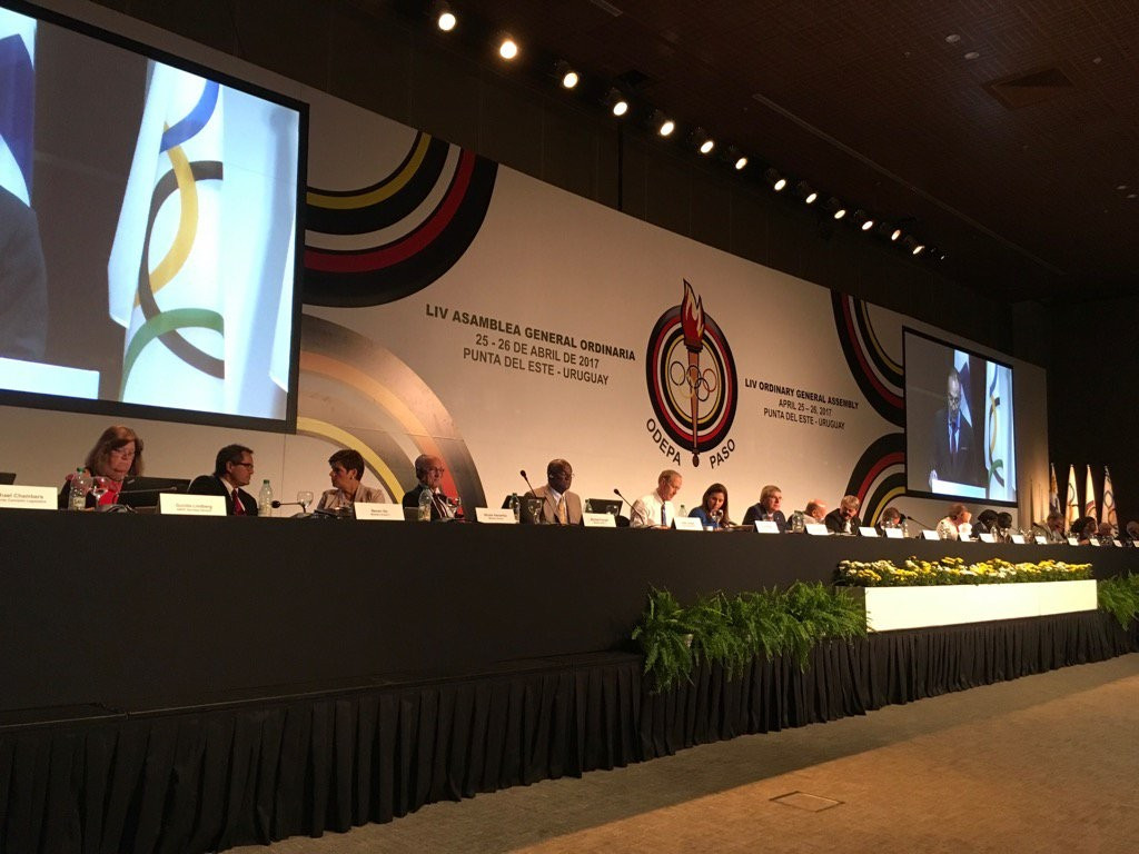 The PASO General Assembly heard a wide-ranging list of problems surrounding preparations for Lima 2019 ©Twitter