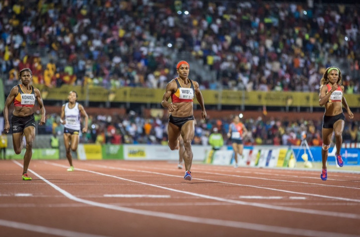 Papua New Guinea won all three medals in the women's 400 metres event as Toea Wisil took gold ©Port Moresby 2015