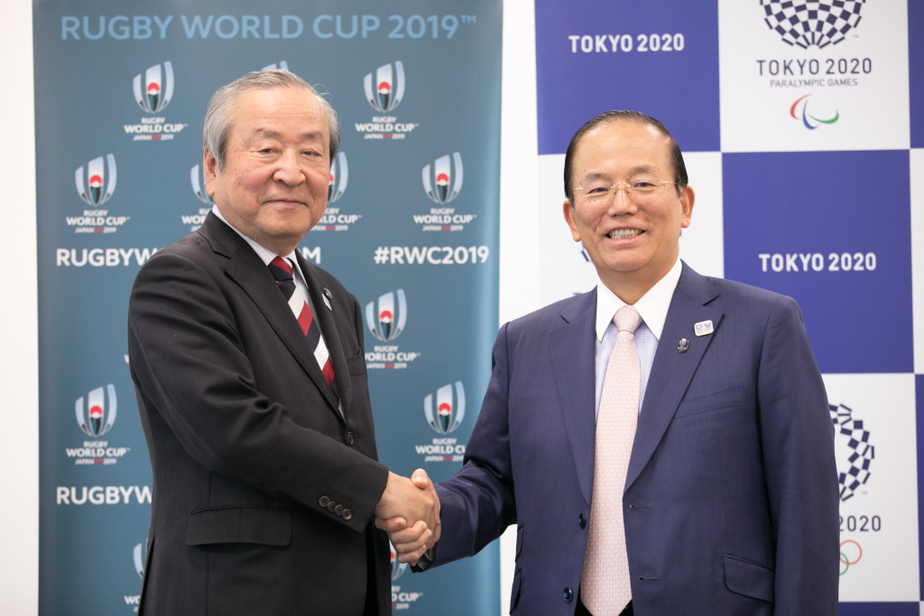 Tokyo 2020 has today signed a landmark collaboration agreement with the Japan 2019 Rugby World Cup ©Tokyo 2020/Mukuo Uta
