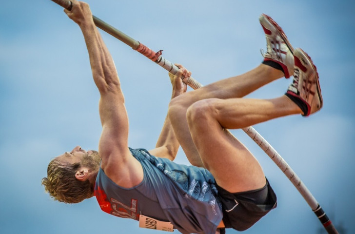 New Caledonia's Eric Reuillard won the men's pole vault, picking up his fourth career Pacific Games gold medal with a jump of 4.60m ©Port Moresby 2015
