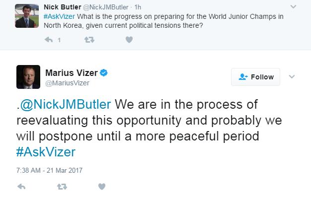 IJF President Marius Vizer told insidethegames postponing the event was possible last month ©Twitter