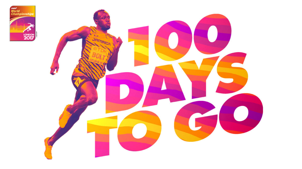 London 2017 made the announcement with 100 days to go ©IAAF