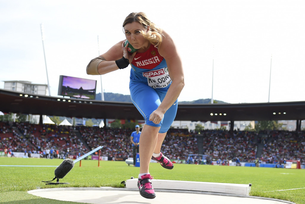 Shot putter Yevgeniya Kolodko is among those to be handed a two-year suspension ©Getty Images
