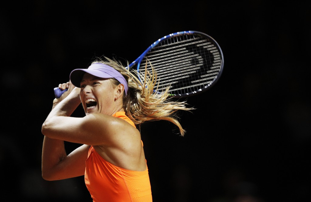 Sharapova wins on return from doping ban at Porsche Grand Prix