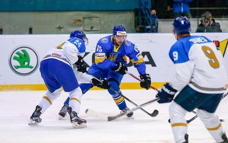 Ukraine were relegated after losing to Kazakhstan ©IIHF