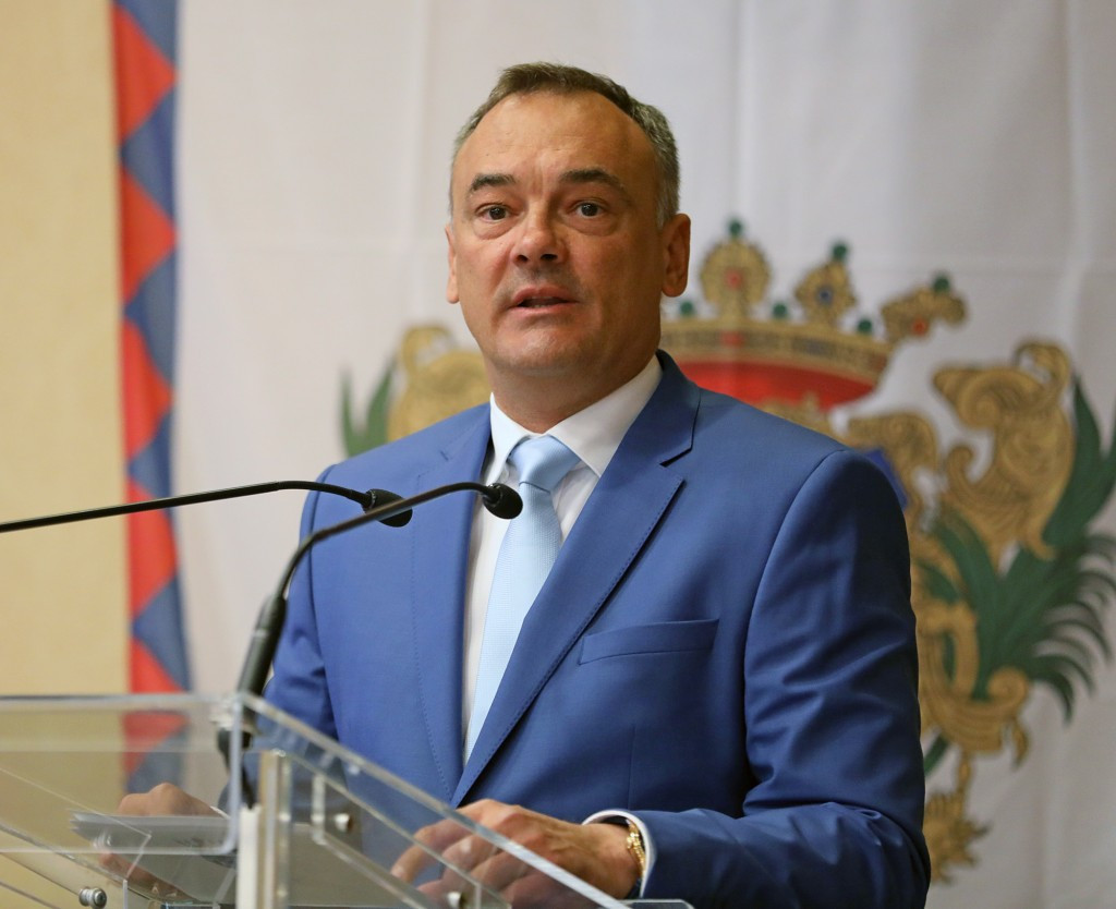 Zsolt Borkai welcomed delegations from 50 countries to Hungary ©EYOF