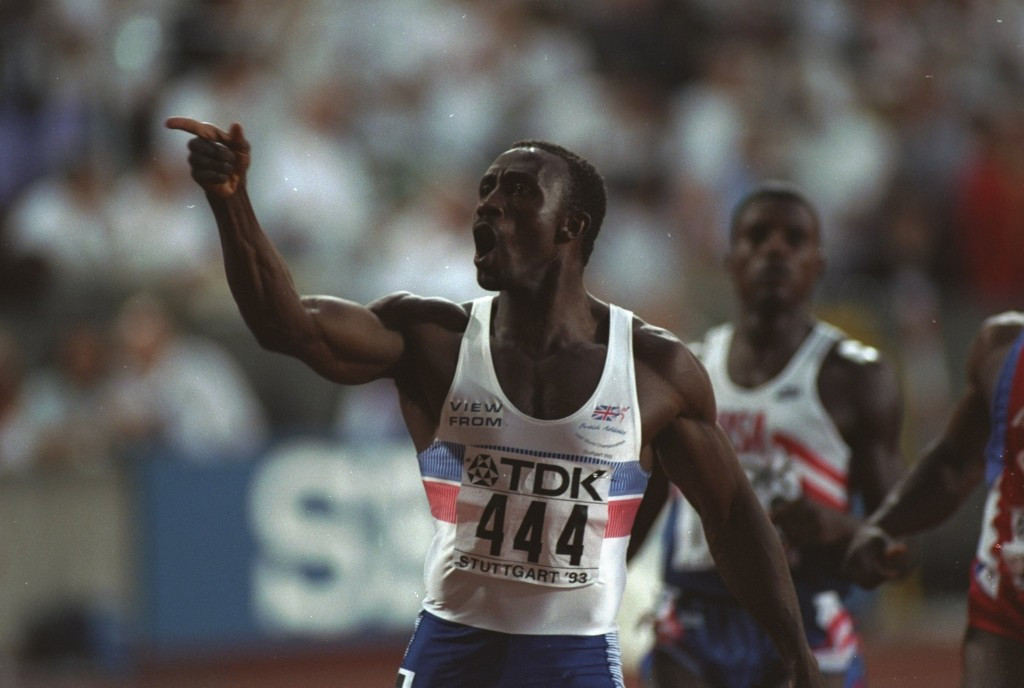 Britain's Linford Christie was awarded the European Athlete of the Year Trophy after winning the world 100 metres title in 1993 ©Getty Images