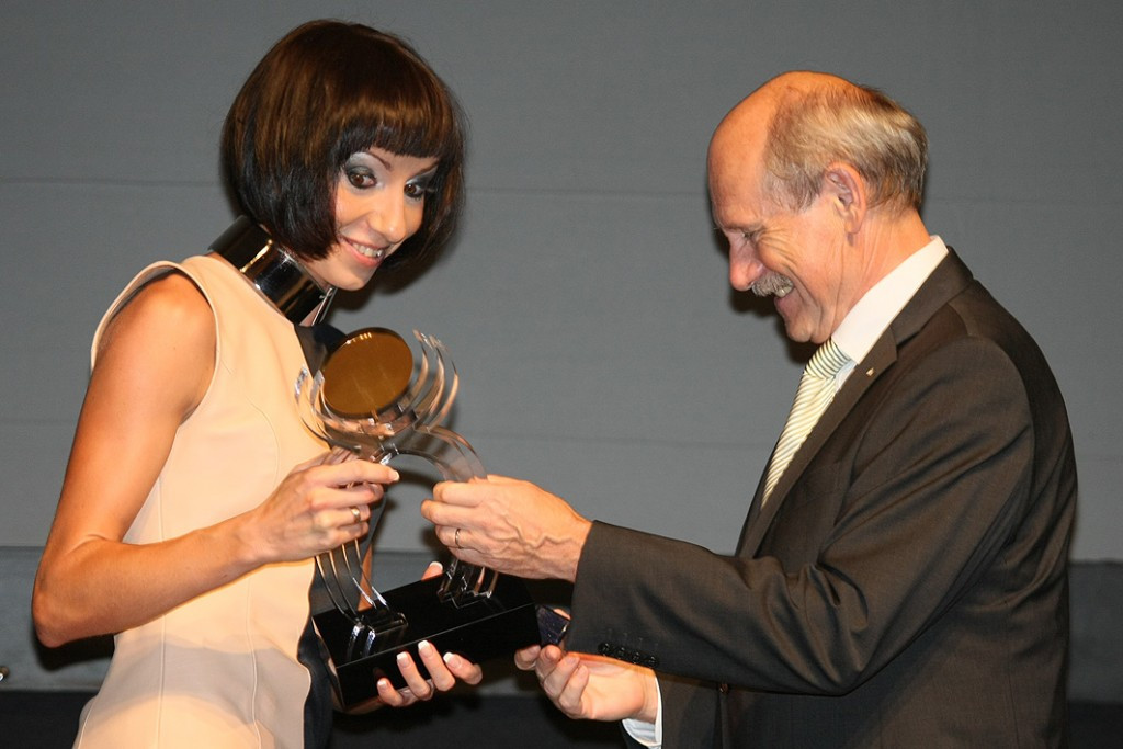 Russia's Mariya Savinova received the European Athlete of the Year Trophy in 2011 after winning the world 800 metres title but could now be stripped of it after being banned for doping ©European Athletics