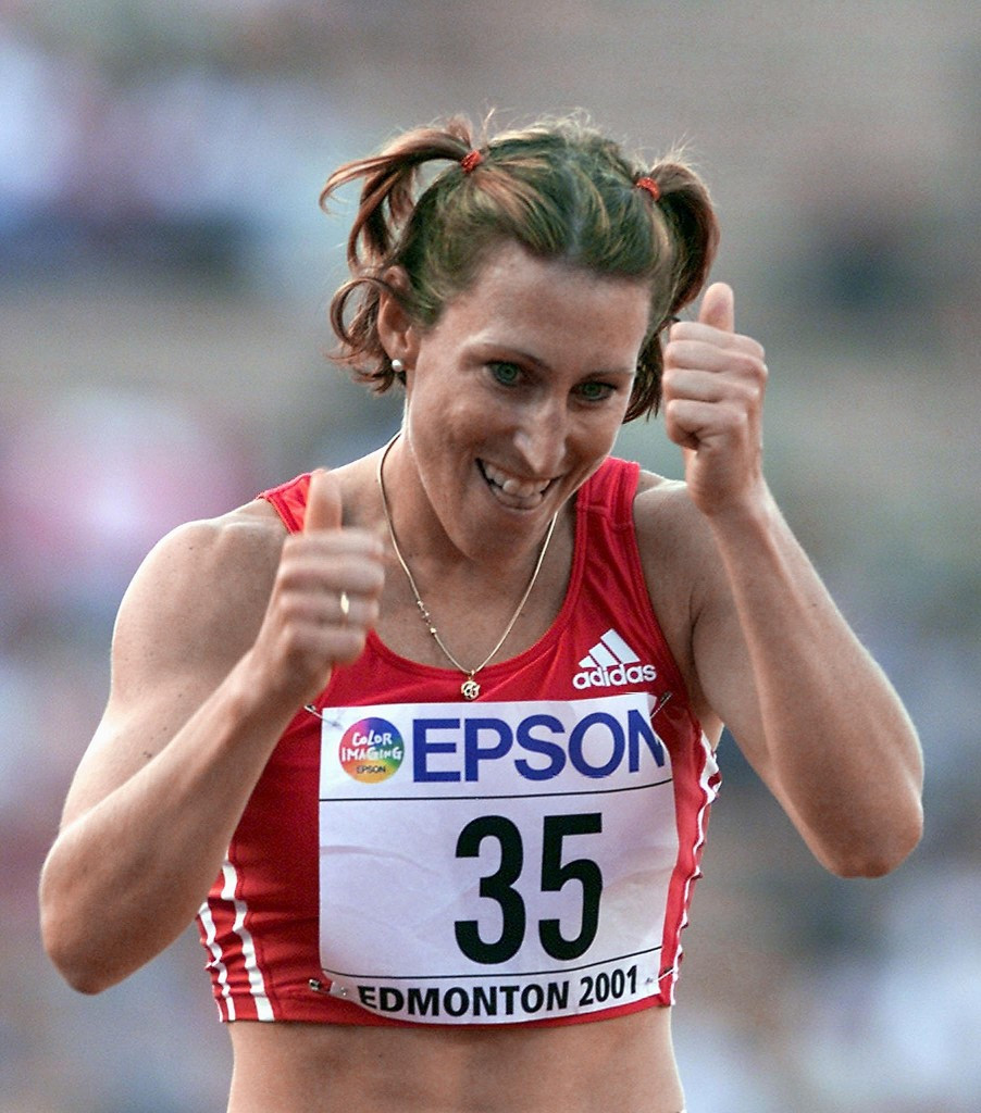 Austria's Stephanie Graf won the European Athlete of the Year Trophy in 2001 after finishing second in the 800m at the World Championships but was later banned for alleged illegal blood doping practices ©Getty Images