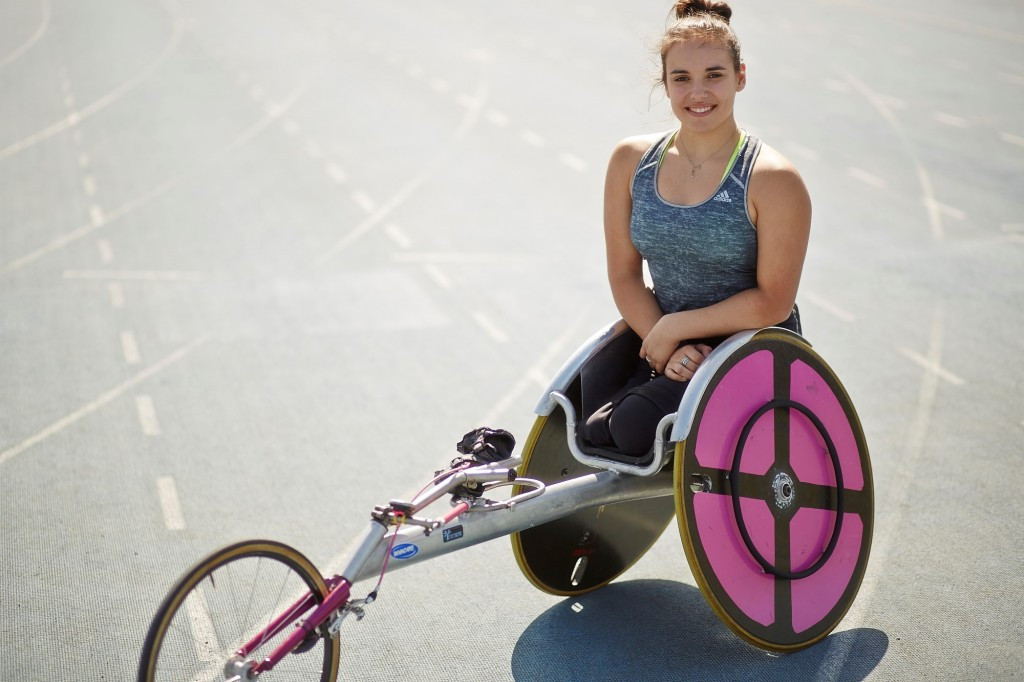 Commonwealth Games bronze medal-winning wheelchair racer shows support for Inter Spinal Unit Games athletes