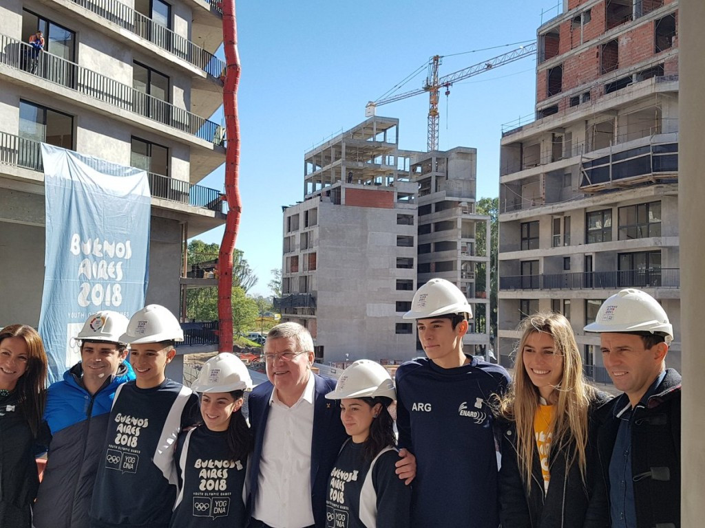 Bach visits Buenos Aires to check Summer Youth Olympic Games preparations
