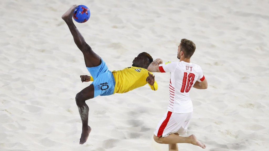The Bahamas were defeated 3-2 by Switzerland in their first FIFA Beach Soccer World Cup match ©Getty Images