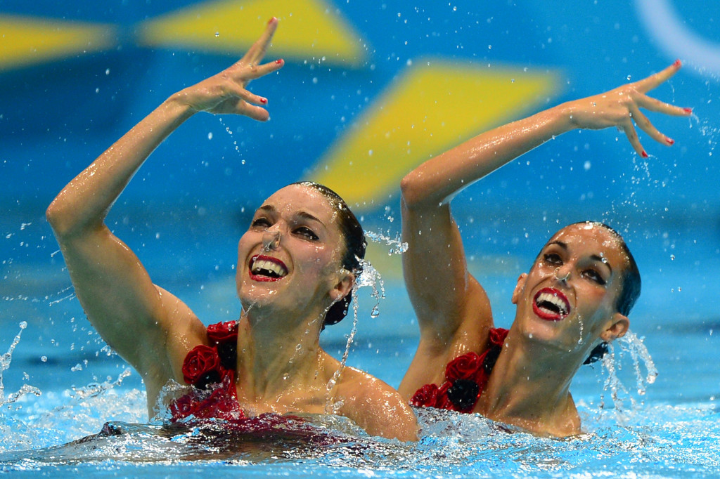 Ona Carbonell, left, won a silver medal at the London 2012 Olympics in the women's duet event with Andrea Fuentes ©Getty Images