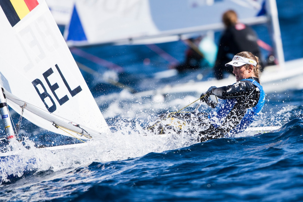 Evi van Acker now leads the women's laser radial event ©World Sailing