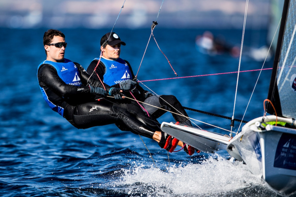 Diego Botin and Iago Lopez have already wrapped up victory in the men's 49er class ©World Sailing