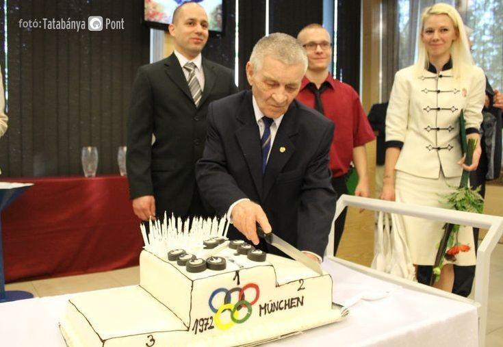 Imre Földi celebrating his 75th birthday in 2013 ©IWF