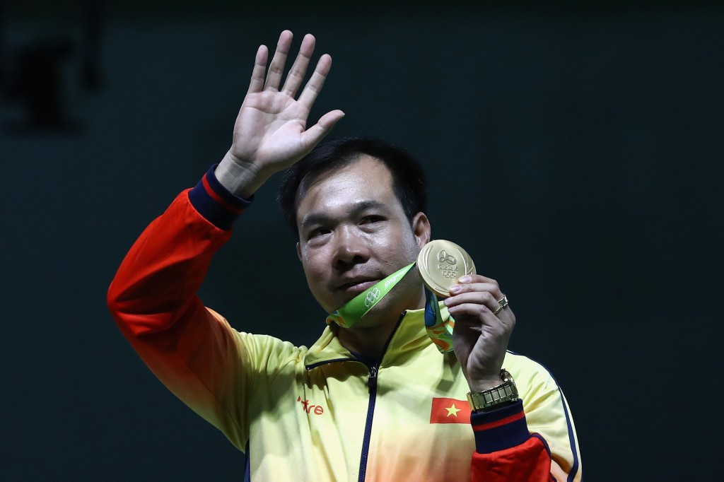 Hoang Xuan Vinh made Olympic history for Vietnam at Rio 2016 ©Getty Images