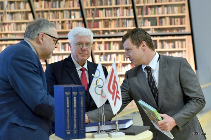 LOC presents Olympic books to National Library of Latvia