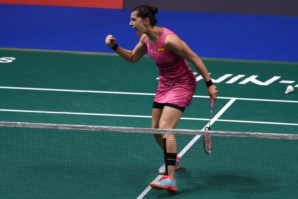 Olympic champion Carolina Marin secured the women's singles title at the European Championships in Denmark ©Getty Images