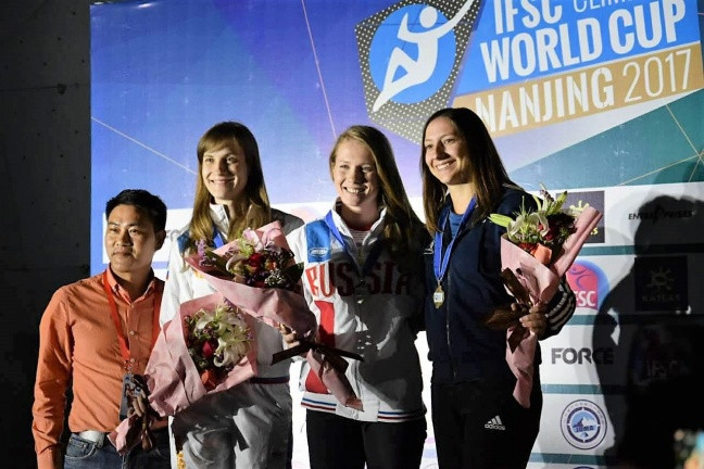 Records tumble on final day of IFSC World Cup in Nanjing