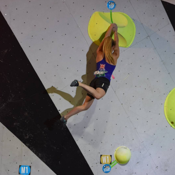 Shauna Coxsey won the women's bouldering World Cup event in Nanjing today ©IFSC / Instagram