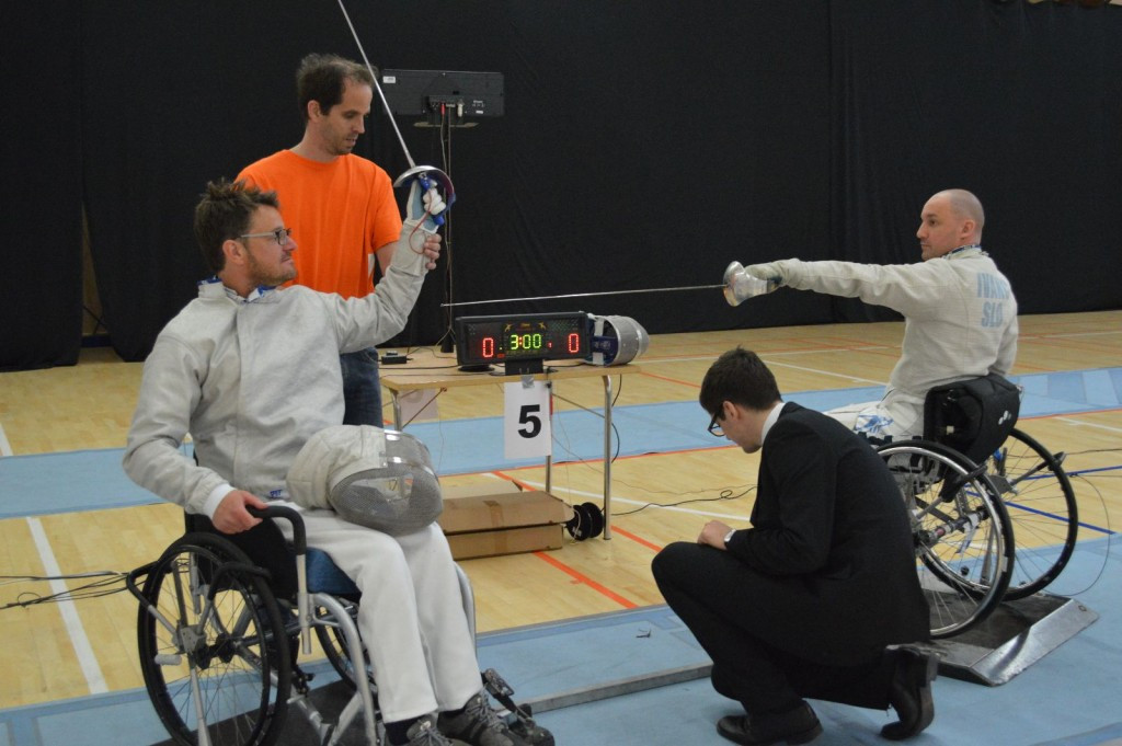 The Slovenian Fencing Federation have held a seminar and workshop for wheelchair fencing ©IWAS