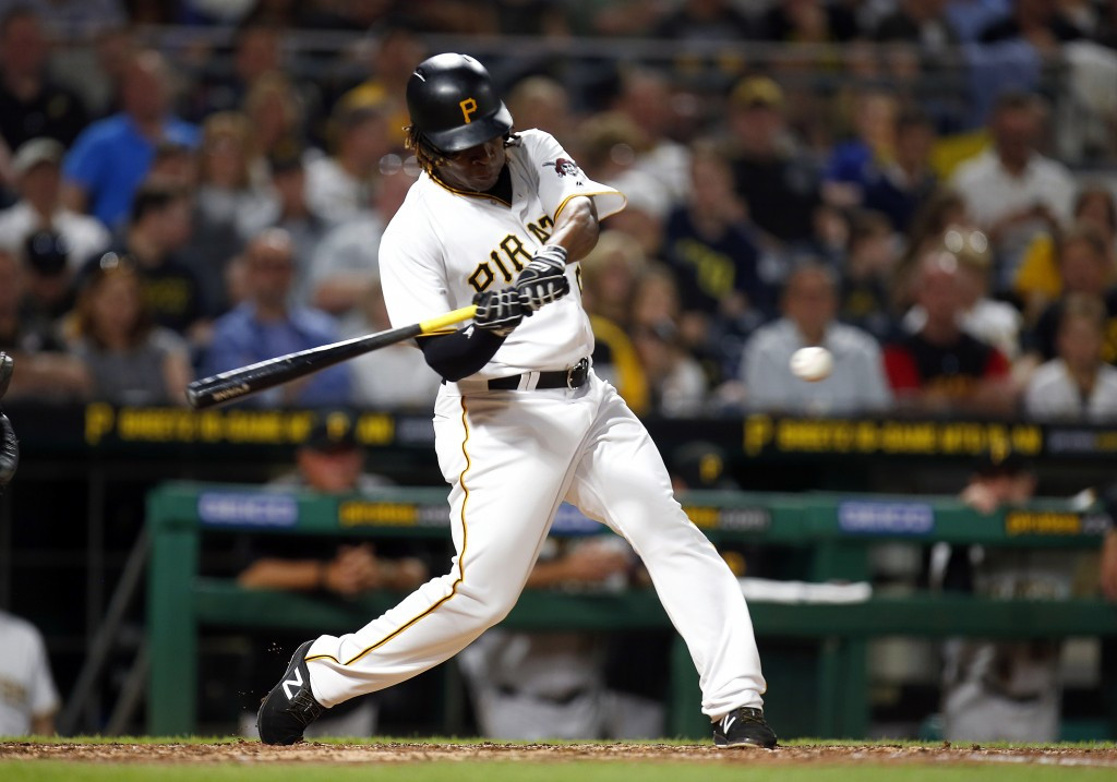 Gift Ngoepe made his debut for the Pirates in the 6-5 win over the Chicago Cubs at PNC Park ©Getty Images