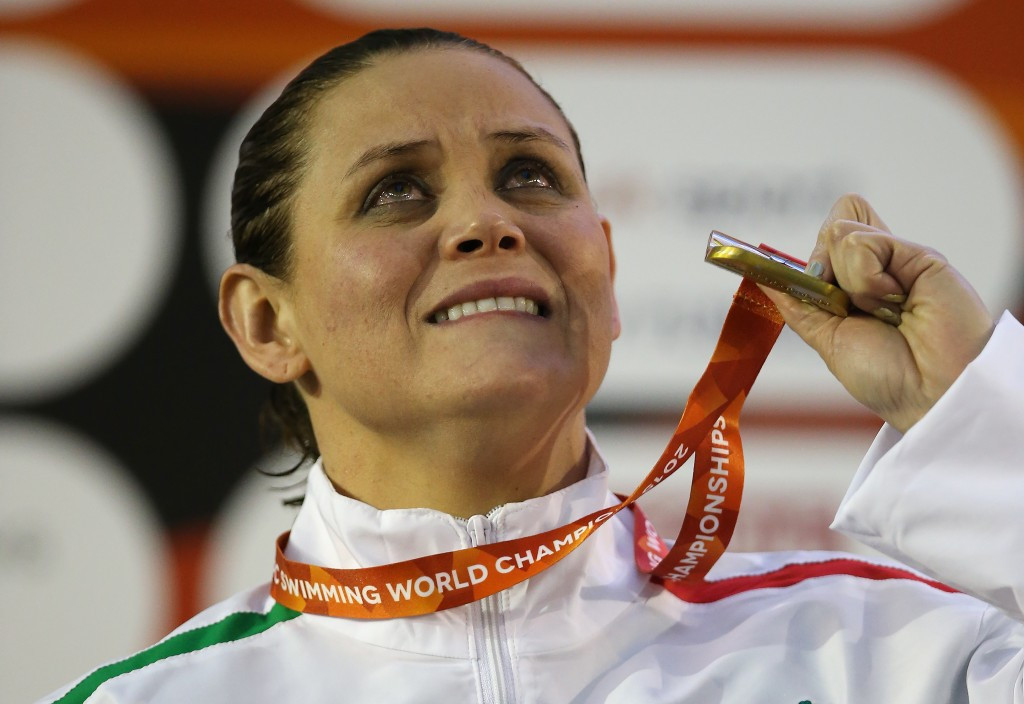 Nely Miranda Herrera of Mexico cried tears of joy as she collected her SM4 150m individual medley gold