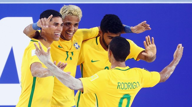 Brazil beat Japan 9-3 today to secure top spot in Group D ©Getty Images