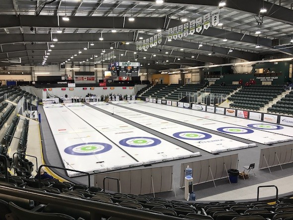 Portage la Prairie will host Canada's Olympic mixed doubles curling trials ©Stride Centre