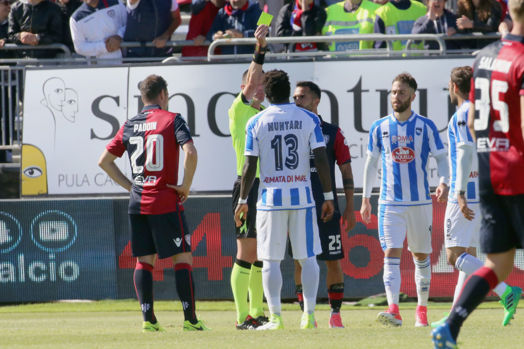 Ghanaian footballer Sulley Muntari has been banned for one match after protesting against racist abuse he received from the crowd during a recent match in Italy's top division ©Getty Images