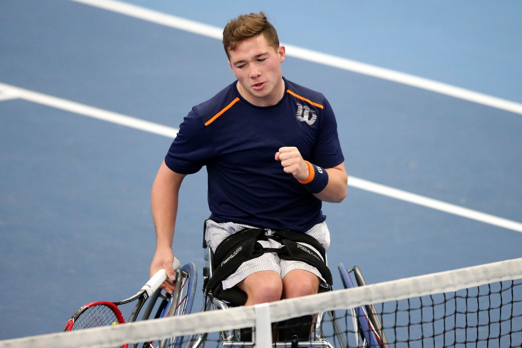 Alfie Hewett earned a straight sets win to set up British success against Austria ©Getty Images