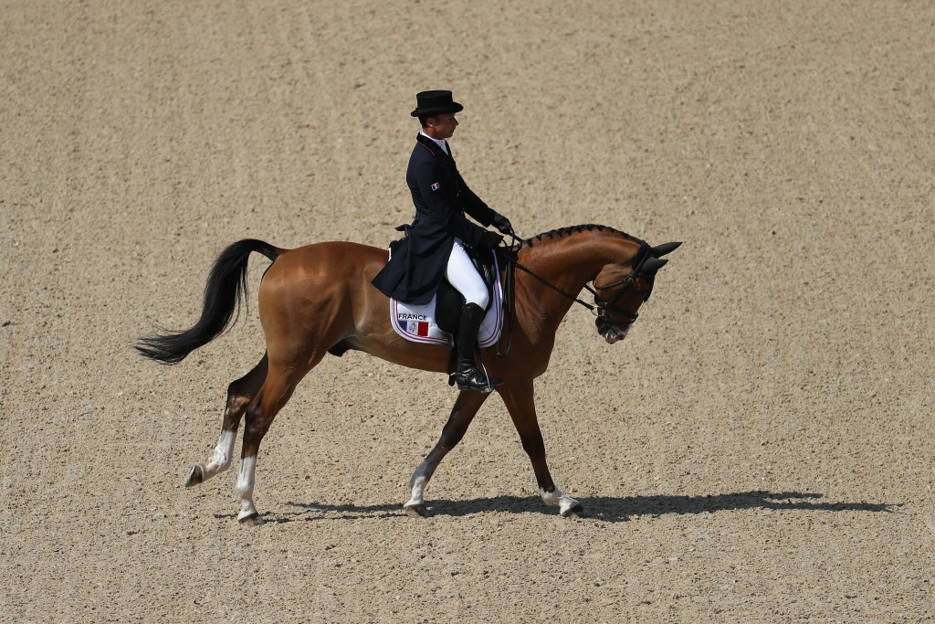 Vallette leads Badminton Horse Trials after first dressage test