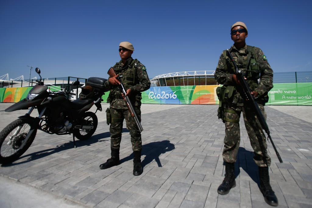 Armed personnel were a common sight at the Rio 2016 Olympic Games ©Getty Images
