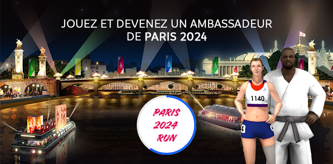 """The Paris 2024 Olympic and Paralympic Bid Committee has released a new branded game title """"Paris 2024 Run"""" ©Paris 2024"""