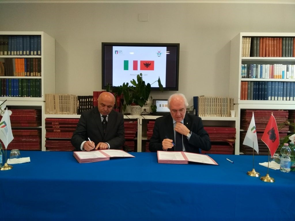 Albanian Olympic Committee oversees collaboration between University and CONI