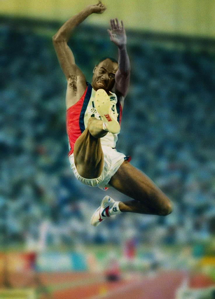 Mike Powell's long jump world record hold, set at Tokyo in 1991, would be among the marks that could be reset under European Athletics new proposals ©Getty Images